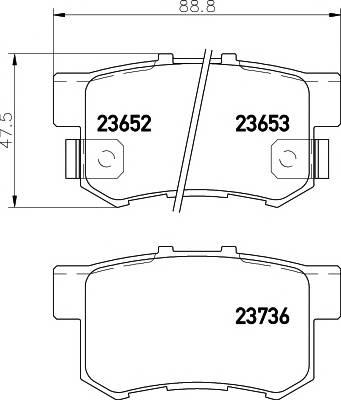 Тормозные колодки 23652/14,8мм Тормозные колодки PAGID PAGID арт. T1263