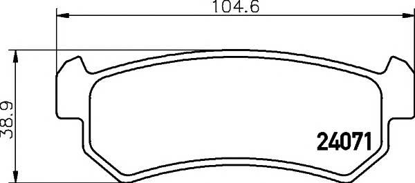 Тормозные колодки 24071/14,6мм Тормозные колодки PAGID PAGID арт. T1458