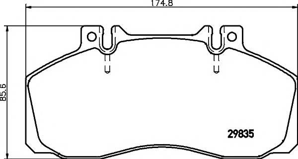 Тормозные колодки 29835/22,0мм Тормозные колодки PAGID PAGID арт. C2004