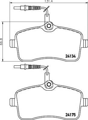 Тормозные колодки 24134/18,7мм Тормозные колодки PAGID PAGID арт. T1461