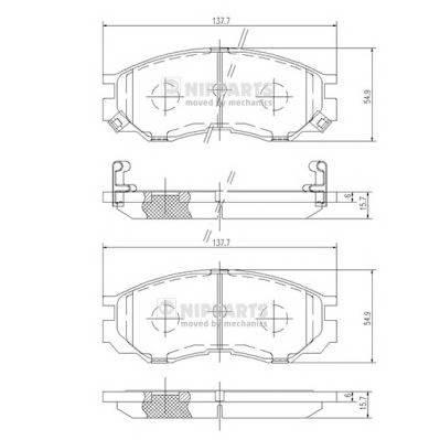 Тормозная система Гальмiвнi колодки, к-кт. ABE арт. J3605035