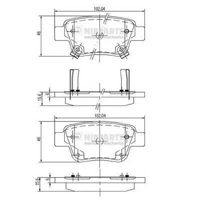 Тормозная система Гальмiвнi колодки, к-кт. PAGID арт. J3612030