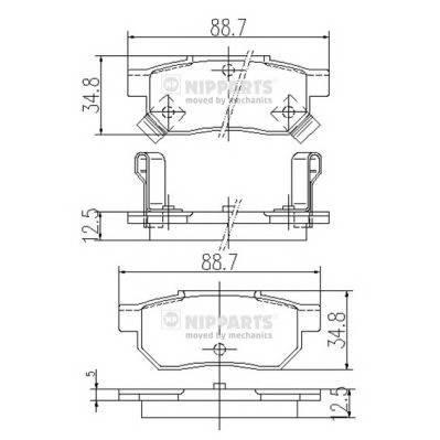 Тормозная система Гальмiвнi колодки, к-кт. PAGID арт. J3614004