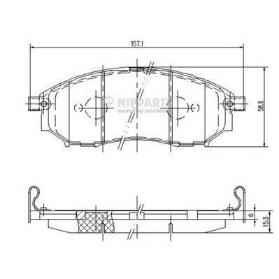 Тормозная система Гальмiвнi колодки, к-кт. ABE арт. J3601094