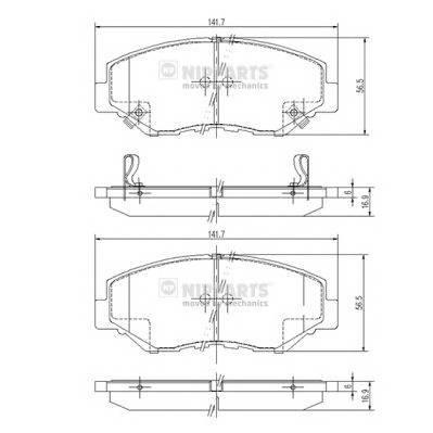 Тормозная система Гальмiвнi колодки, к-кт. PAGID арт. J3604061