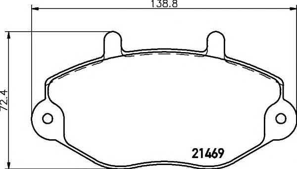 Тормозные колодки Тормозные колодки дисковые PAGID арт. 2146901