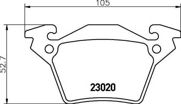 Тормозные колодки Тормозные колодки дисковые TEXTAR PAGID арт. 2302001