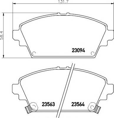 Тормозные колодки Тормозные колодки дисковые TEXTAR ABE арт. 2309401