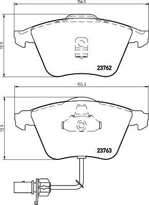 Тормозные колодки Тормозные колодки дисковые TEXTAR ABE арт. 2376201