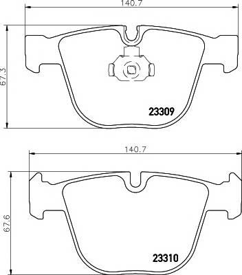 Тормозные колодки Тормозные колодки дисковые TEXTAR PAGID арт. 2330902