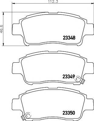Тормозные колодки Тормозные колодки дисковые ABE арт. 2334803