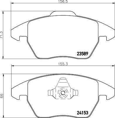 Тормозные колодки Тормозные колодки дисковые TEXTAR ABE арт. 2358901