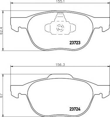 Тормозные колодки Тормозные колодки дисковые TEXTAR PAGID арт. 2372301