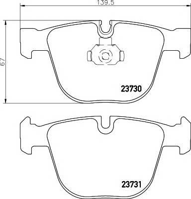 Тормозные колодки Тормозные колодки дисковые TEXTAR PAGID арт. 2373001