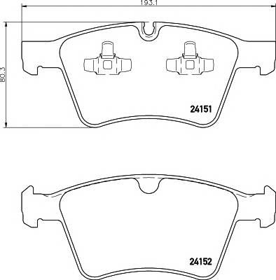 Тормозная система Гальмiвнi колодки, к-кт. ABE арт. 2415101