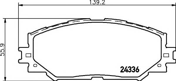 Тормозные колодки Тормозные колодки дисковые TEXTAR ABE арт. 2433601