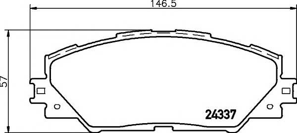Тормозные колодки Тормозные колодки дисковые TEXTAR ABE арт. 2433701
