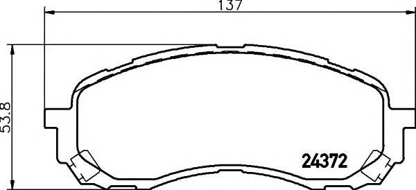Тормозные колодки Тормозные колодки дисковые TEXTAR ABE арт. 2437201