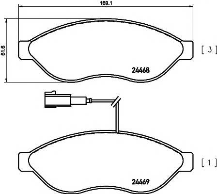 Тормозные колодки Тормозные колодки дисковые ABE арт. 2446802