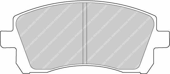 Тормозные колодки Тормозные колодки дисковые ABE арт. FDB1327
