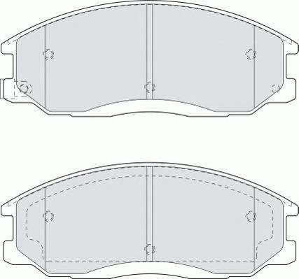 Тормозные колодки Тормозные колодки Ferodo ABE арт. FDB1605