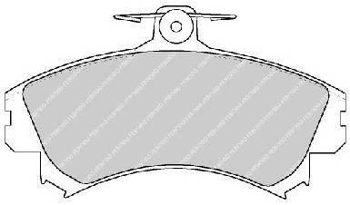 Тормозные колодки Тормозные колодки дисковые PAGID арт. FDB1738