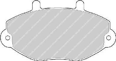 Тормозные колодки Тормозные колодки Ferodo PAGID арт. FVR701