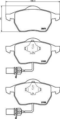 Тормозные колодки 21938/20,3мм Тормозные колодки PAGID PAGID арт. T1149