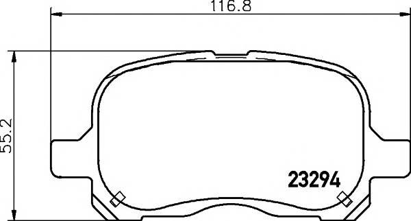 Тормозные колодки 23294/16,5мм Тормозные колодки PAGID PAGID арт. T1229