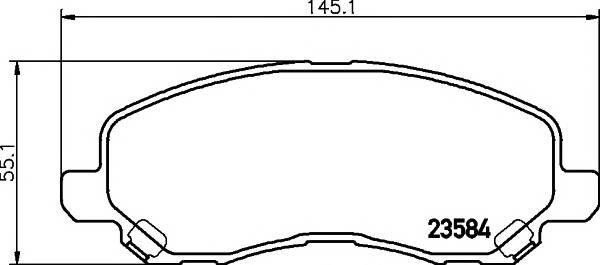 Тормозные колодки 23584/16мм Тормозные колодки PAGID PAGID арт. T1274