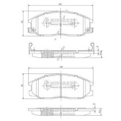Тормозная система Гальмiвнi колодки, к-кт. PAGID арт. J3600526