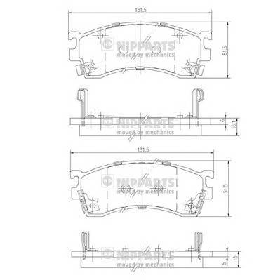 Тормозная система Гальмiвнi колодки, к-кт. ABE арт. J3603038