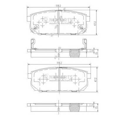 Тормозная система Гальмiвнi колодки, к-кт. PAGID арт. J3610305