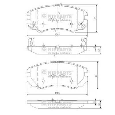 Тормозная система Гальмiвнi колодки, к-кт. ABE арт. J3600541