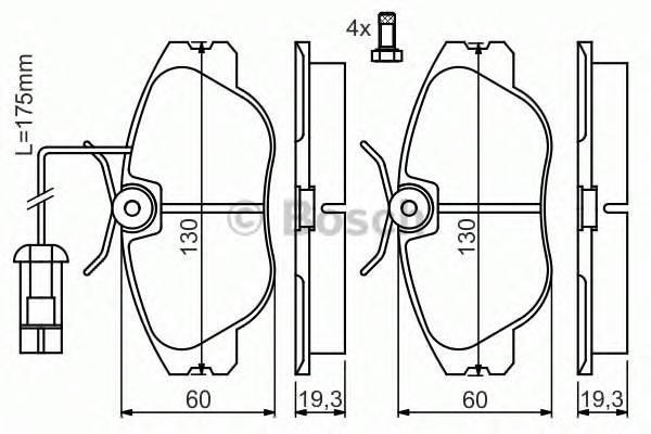 Тормозные колодки Тормозные колодки дисковые ABE арт. 0986424374
