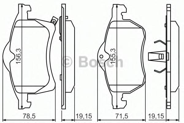 Тормозные колодки Тормозные колодки Bosch PAGID арт. 0986424457