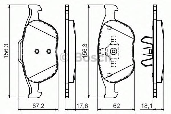 Тормозная система Гальмiвнi колодки, к-кт. PAGID арт. 0986424701