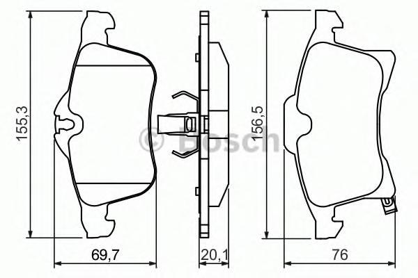Тормозная система Гальмiвнi колодки, к-кт. PAGID арт. 0986424707