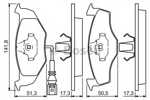 Тормозные колодки Тормозные колодки дисковые передние VW Polo 01-; SKODA Fabia 99- PAGID арт. 0986424723