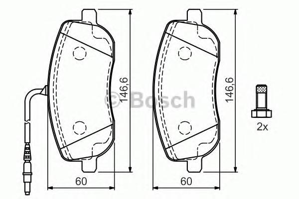 Тормозные колодки Тормозные колодки Bosch ABE арт. 0986424789