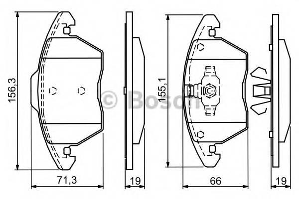 Тормозная система Гальмiвнi колодки, к-кт. ABE арт. 0986424825