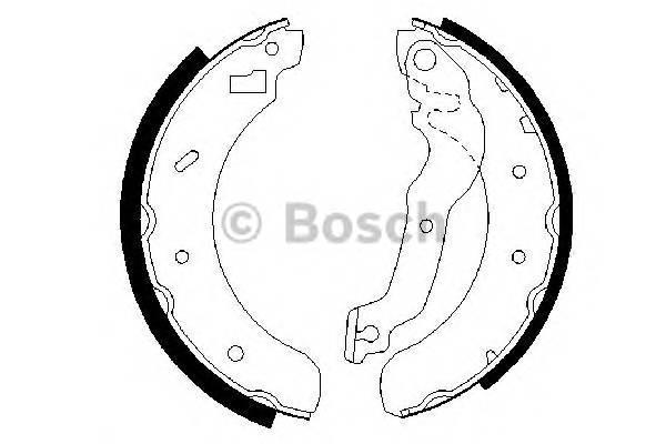 Тормозные колодки Тормозные колодки барабанные ABE арт. 0986487241