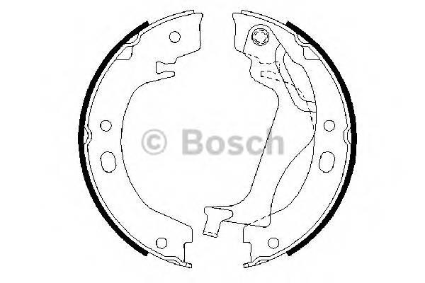 Тормозные колодки Тормозные колодки барабанные TOYOTA Corolla ABE арт. 0986487713