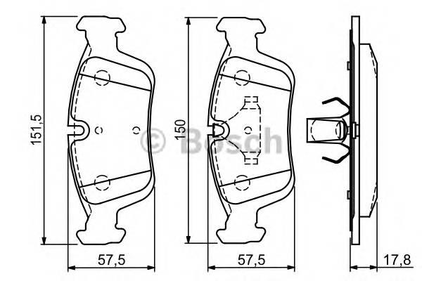 Тормозная система Гальмiвнi колодки, к-кт. PAGID арт. 0986494015