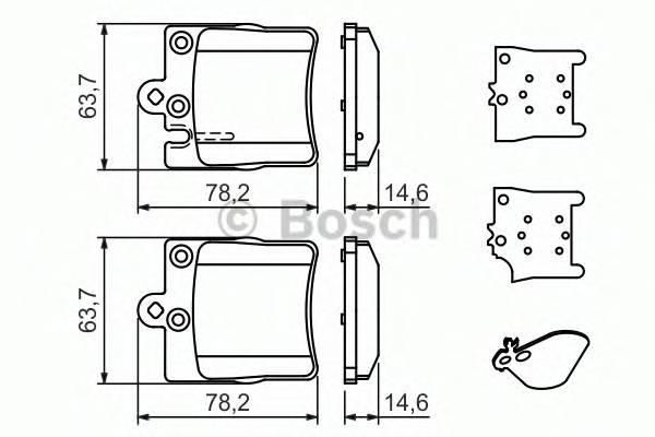 Тормозная система Гальмiвнi колодки, к-кт. PAGID арт. 0986494022