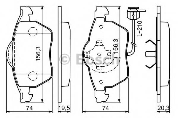 Тормозные колодки Тормозные колодки Bosch PAGID арт. 0986494050