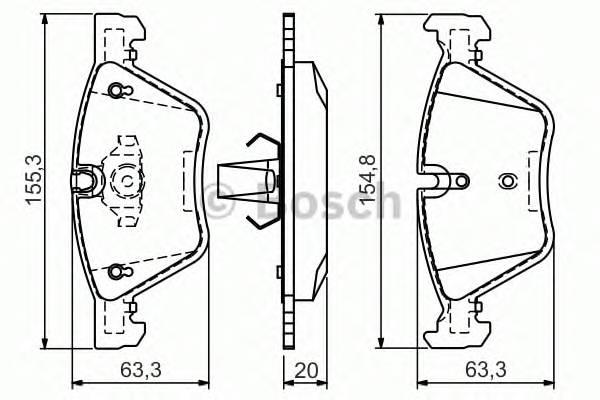 Тормозные колодки Тормозные колодки Bosch ABE арт. 0986494118