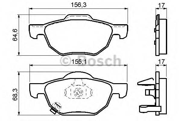 Тормозные колодки Тормозные колодки Bosch ABE арт. 0986494135