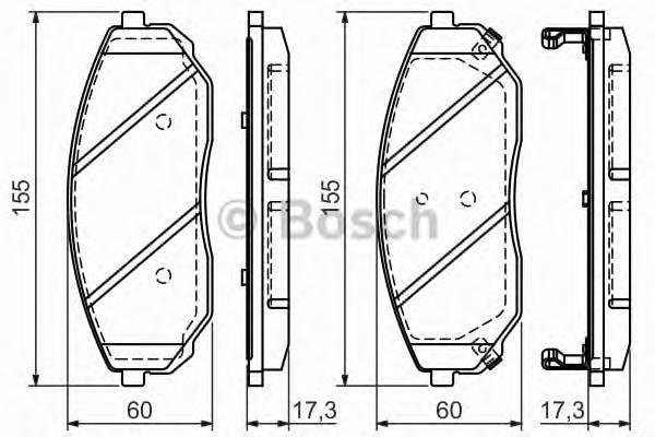 Тормозные колодки Тормозные колодки Bosch PAGID арт. 0986494143