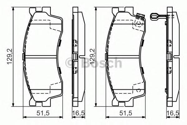 Тормозные колодки Тормозные колодки дисковые передние KIA Cerato 04-, Rio -05 PAGID арт. 0986494146